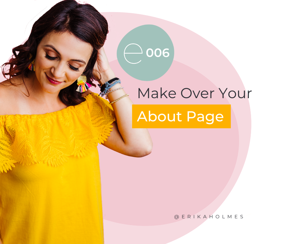 make over your about page